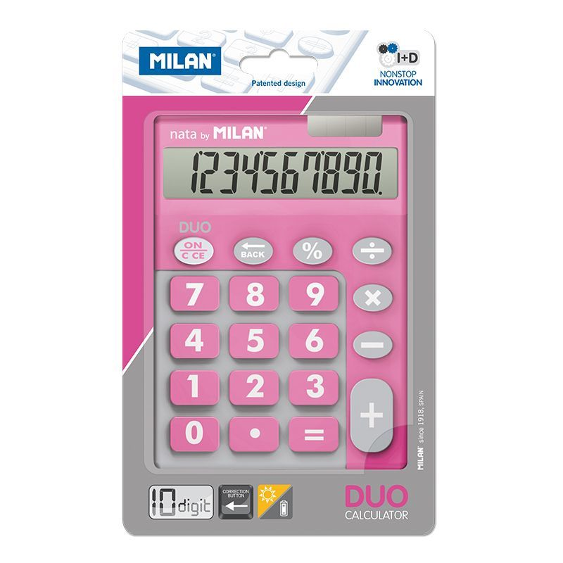 Calculadora Milan Touch Duo Rosa 10 Digitos R: 150610 -