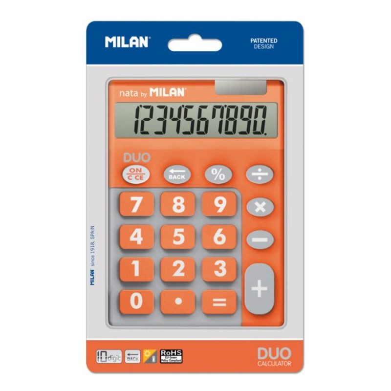 CALCULADORA MILAN TOUCH DUO NARANJA 10 DIGITOS R: 150610