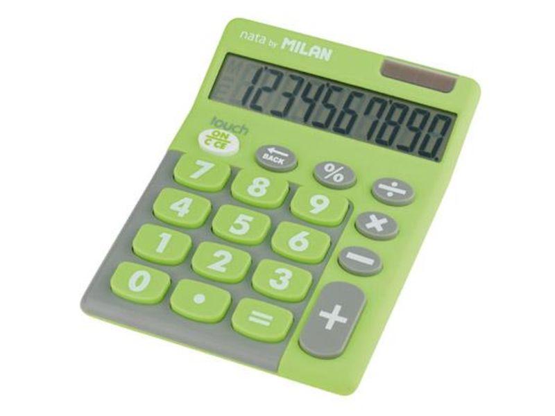 Calculadora Milan Touch Duo Verde 10 Digitos R: 150610 -