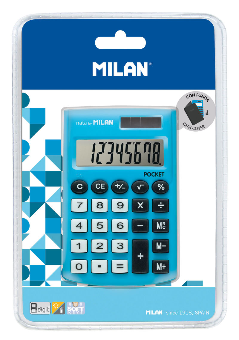 CALCULADORA MILAN TOUCH AZUL 8 DIGITOS R: 150908