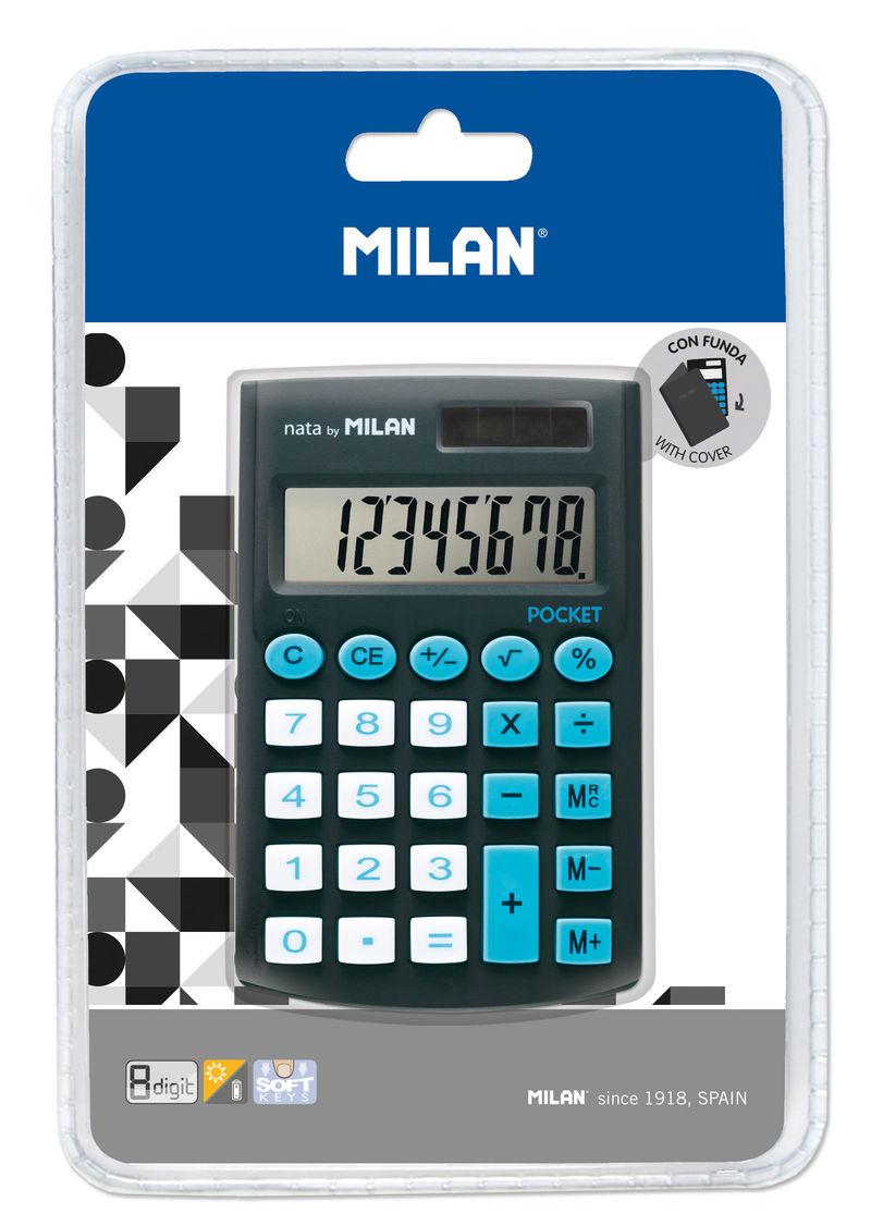 Calculadora Milan Touch Negro 8 Digitos R: 150908 -