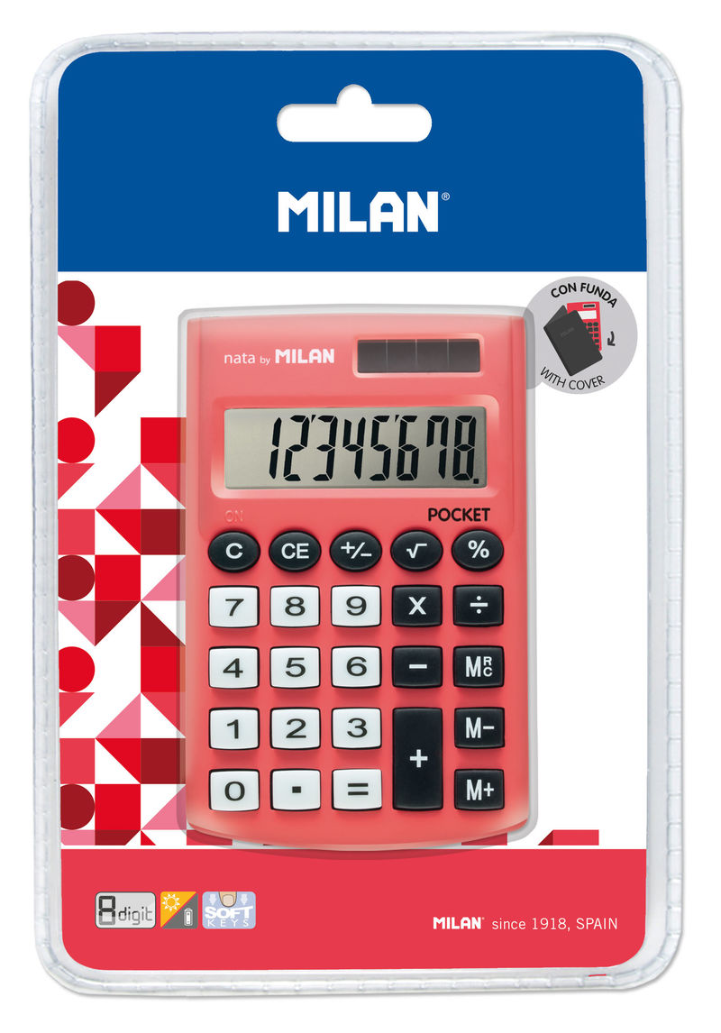 Calculadora Milan Touch Roja 8 Digitos R: 150908 -