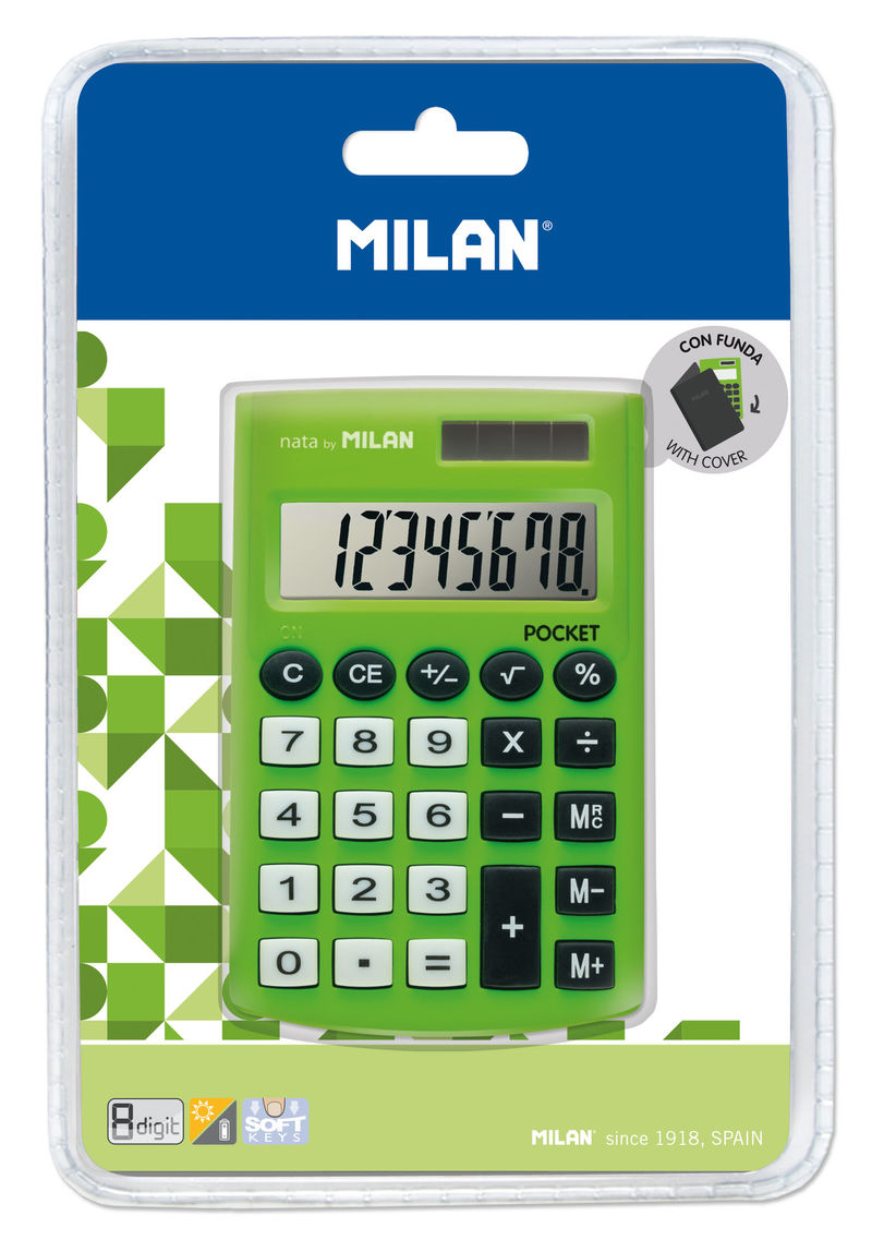 CALCULADORA MILAN TOUCH VERDE 8 DIGITOS R: 150908