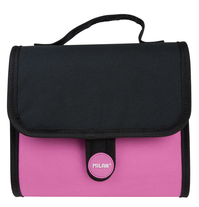 COMPACT FLUO 18 * HANDLY MULTIPENCILCASE 2 PORT. ROSA R: 08829CFP