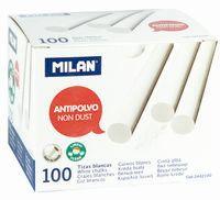 C / 100 Tizas Blancas Antipolvo Redondas R: 2442100 -