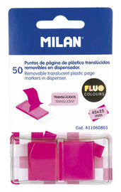 Marcapaginas Rosa Fluo Transparente 50u R: 411060801 -