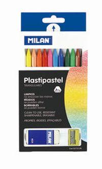 ESTUCHE 12 PLASTIPASTEL + GOMAS + SACAPUNTAS R: 027212K