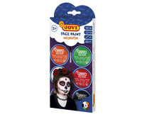 SET HALLOWEEN FACE PAINT 6 BOTES 8ml COLORES SURTIDOS + ACCESORIOS