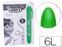 C / 5 TWIST FACE PAINT STICKS DE MAQUILLAJE VERDE