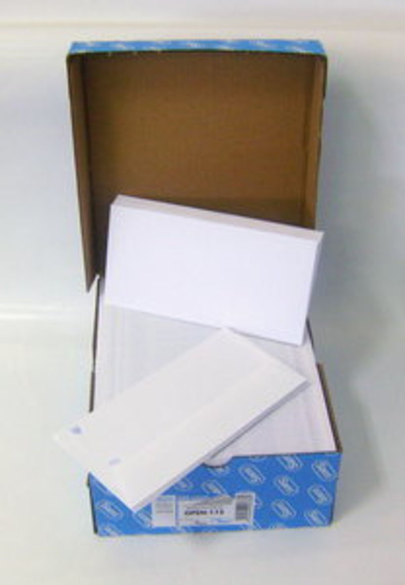 C / 500 Sobres Americano Blanco Opensam Blanco 115x225 90gr -