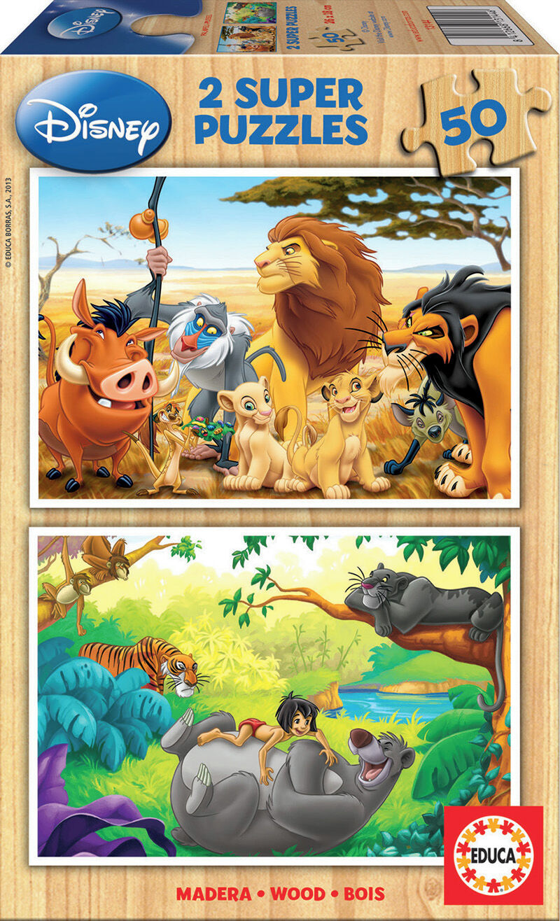 SUPER PUZZLE MADERA 2x50 * ANIMAL FRIENDS R: 13144