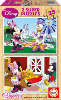 SUPER PUZZLE DISNEY * 2X25 MINNIE R: 15279