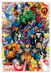 PUZZLE 500 * HEROES MARVEL R: 15560