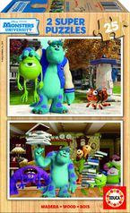 SUPER PUZZLE DISNEY 2X25 * MONSTERS UNIVERSITY R: 15607