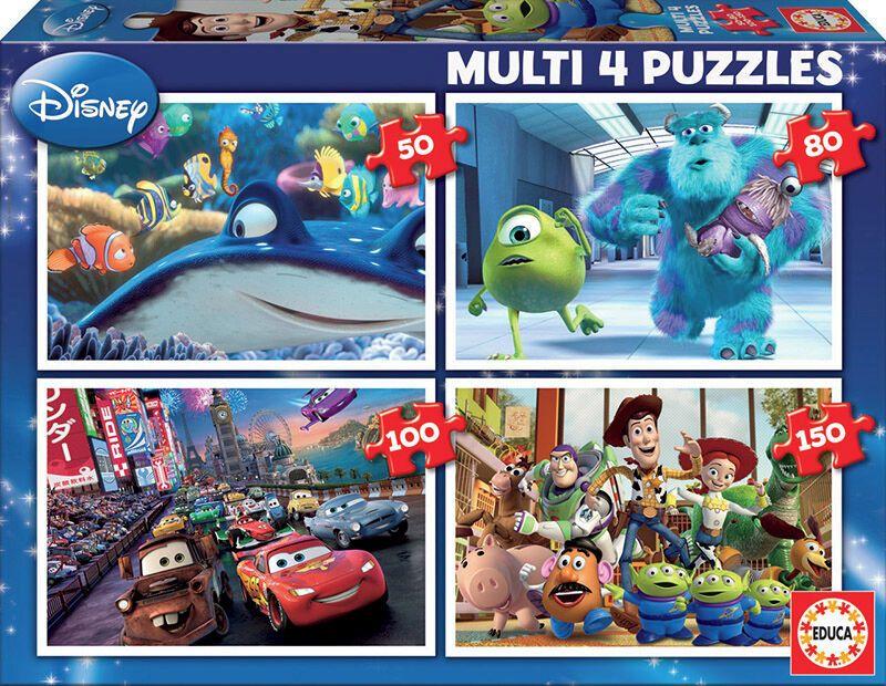 MULTI 4 PUZZLES * PIXAR 50-80-100-150