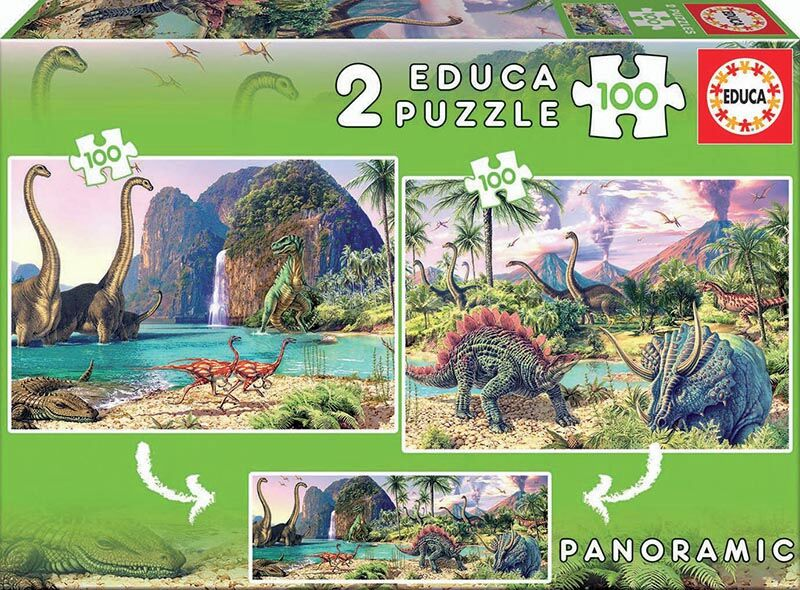 Puzzle Junior 2x100 * Dino World -