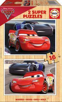 SUPER PUZZEL MADERA 2x16 * CARS 3