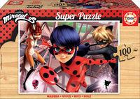 SUPER PUZZLE MADERA 100 * MIRACULOUS LADYBUG