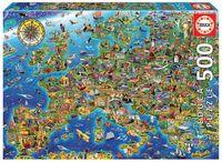 PUZZLE 500 * MAPA DE EUROPA