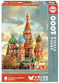 PUZZLE 1000 * CATEDRAL DE SAN BASILIO, MOSCU R: 17998