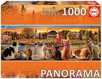 PUZZLE PANORAMA 1000 * GATOS EN EL EMBARCADERO R: 18001
