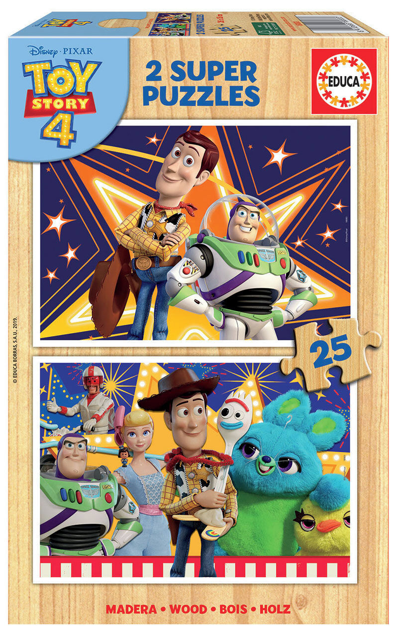 SUPER PUZZLE MADERA 2x25 * TOY STORY 4 R: 18083
