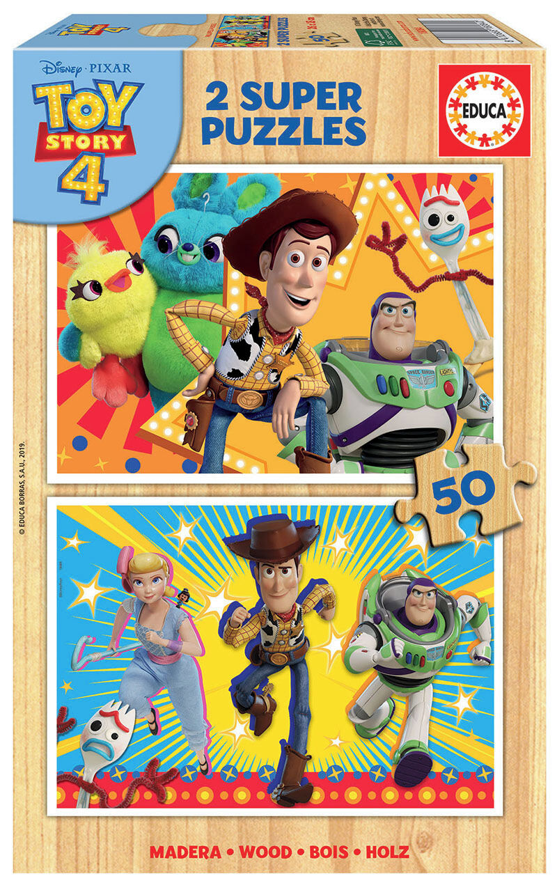 SUPER PUZZLE MADERA 2x50 * TOY STORY 4 R: 18084