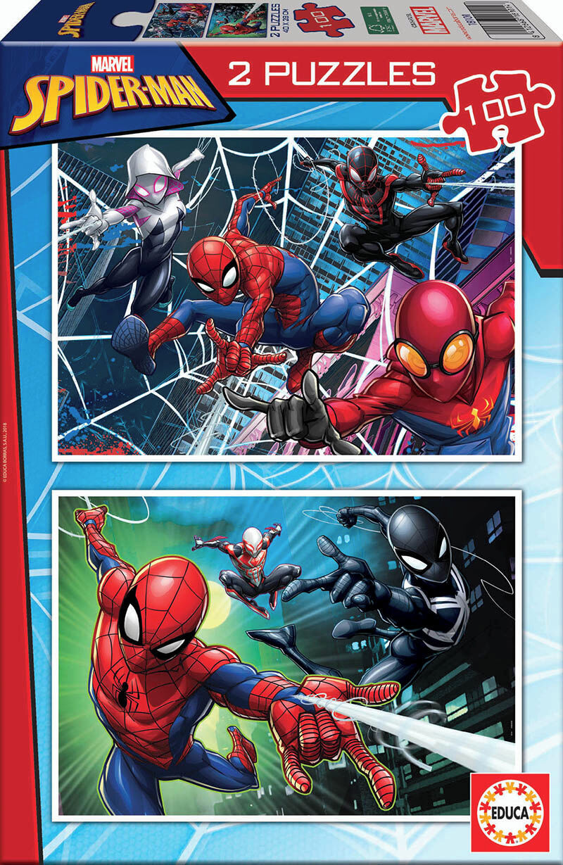 SPIDERMAN * PUZZLE 2x100 R: 18101