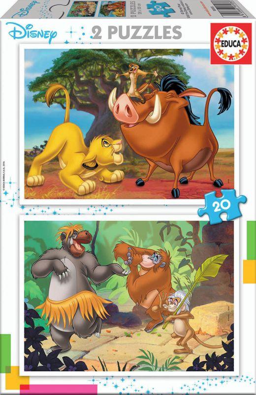PUZZLE 2x20 * DISNEY ANIMALS