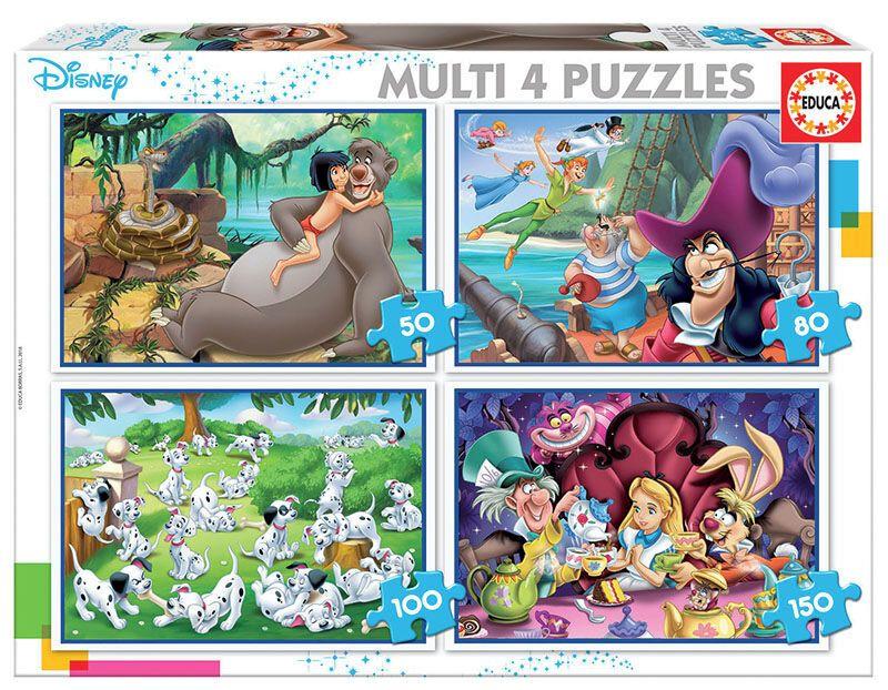 MULTI 4 PUZZLES * CLASICOS DISNEY R: 18105