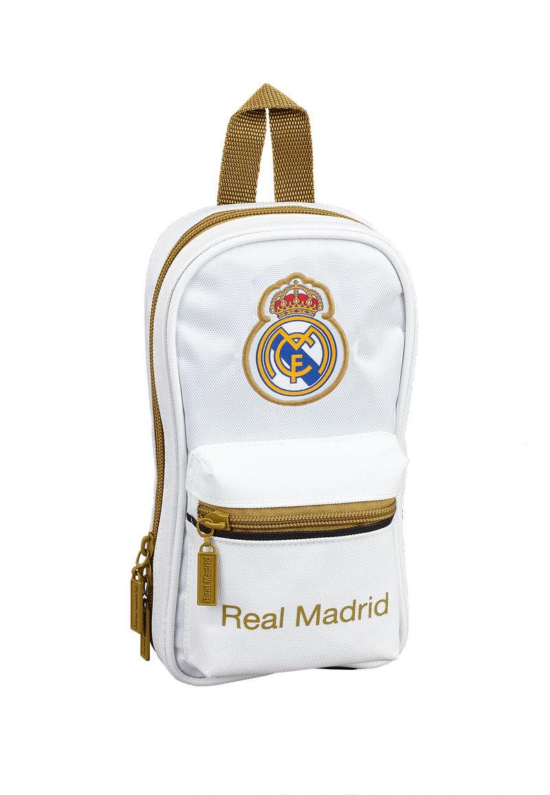 REAL MADRID 1ª EQUIPACION 19 / 20 * PLUMIER MOCHILA C / 4 PORT. LLENOS