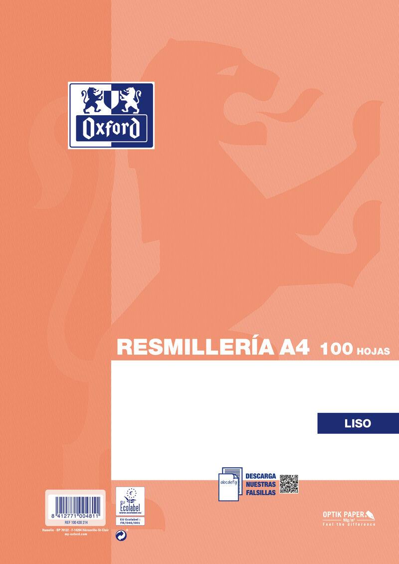 RESM. A4 100H LISO 90GR R: 100430214