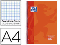EUROPEAN BOOK 1 A4+ 80H CUAD.5X5 90GR NARANJA R: 400040982