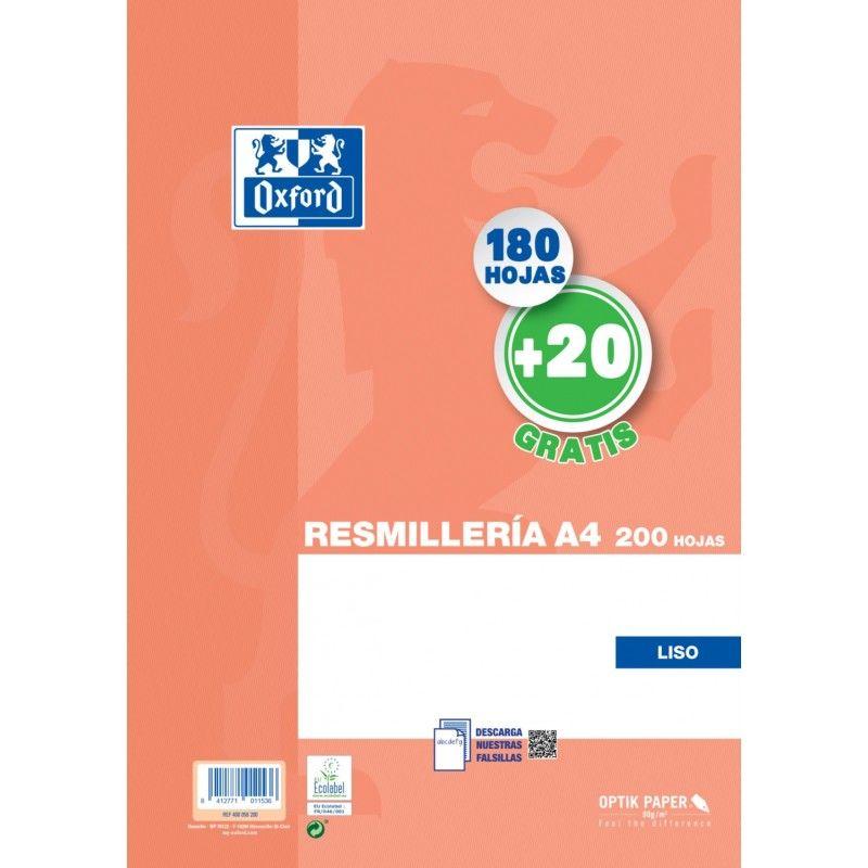 RECAMBIO A4 180+20H LISO 90GR. R: 400058200