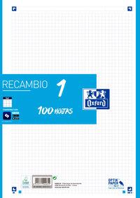RECAMBIO A4 100H 5x5 TURQUESA R: 400106620