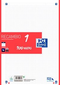 RECAMBIO A4 100H 5X5 ROJO R: 400106623