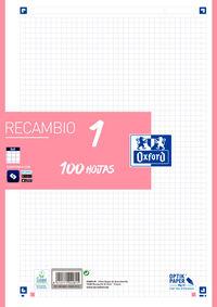 RECAMBIO A4 100H 5X5 ROSA CHICLE R: 400106624