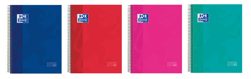 paq / 5 bloc europeanbook 10 a4+ 150h cuad.5x5 colores -