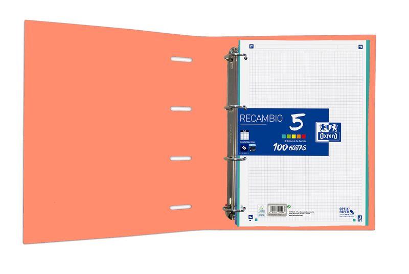 EUROPEANBINDER CLASSIC TE A4+ CON RECAMBIO 100H 5X5 - MELOCOTON