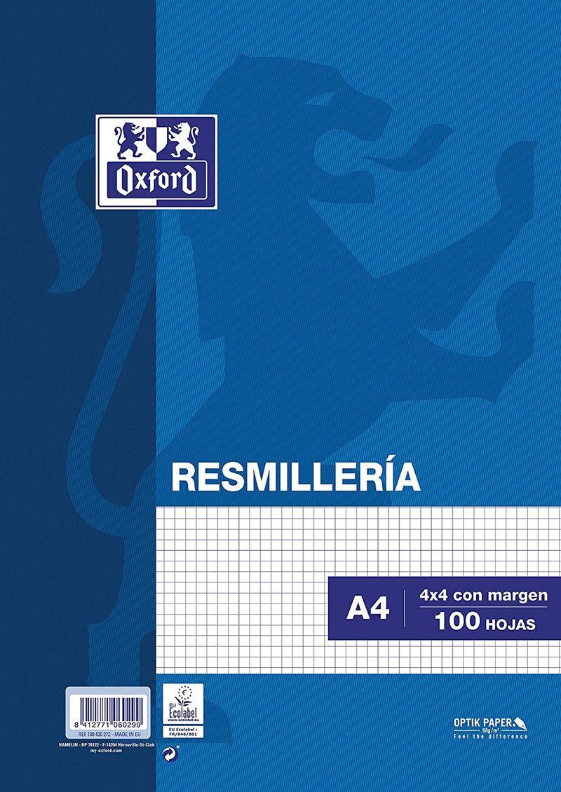 RESM. A4 100H CUAD. 4X4 C / MARGEN R: 17102399