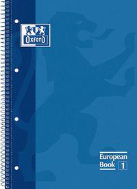 EUROPEAN BOOK 1 A4+ 80H CUAD.5X5 90GR AZUL MARINO