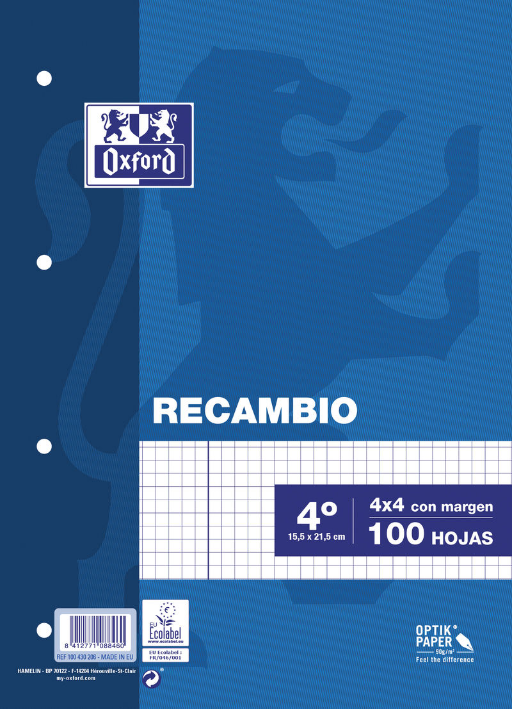RECAMBIO 4º 100H CUAD.4 C / M R: 100430206