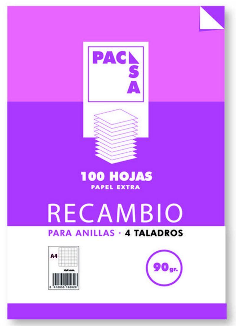 REC. A4 100H 4 TAL. CUAD.3x3 90gr