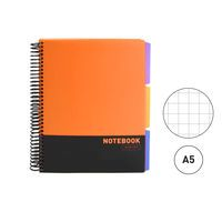 TUKNO SOHO 17 * NOTEBOOK A5 CUAD. 120H PP 3 SEP. NARANJA R: 20444