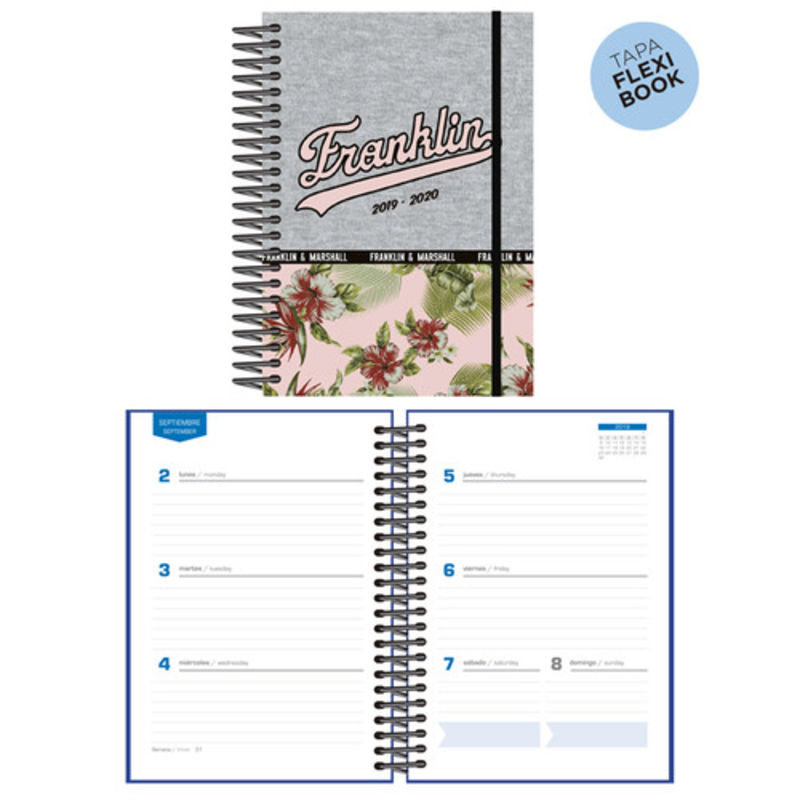 19 / 20 * AGENDA ESCOLAR S / V STUDENT FRANKLIN MARSHALL GIRLS ESTAMPADO