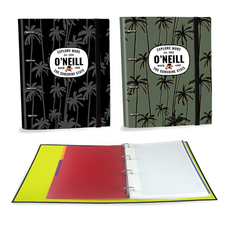 ONEILL BOYS * CARPETA RINGBOOK A4 4 ANILLAS 30MM 120H SURTIDO