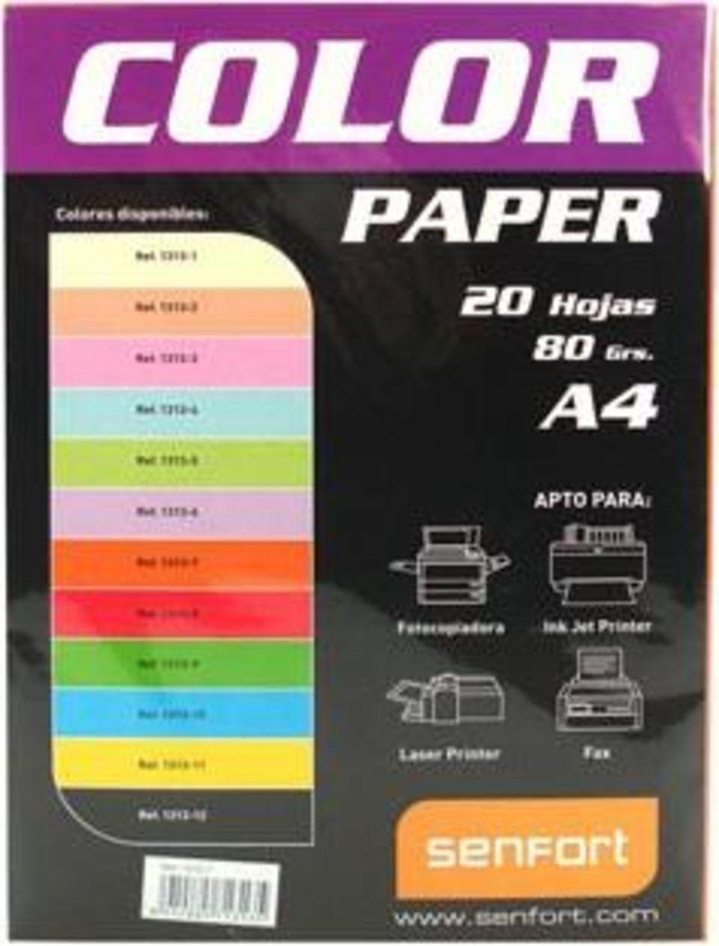 COLOR PAPER * PAQ / 20H A4 80gr AZUL R: 1313-4