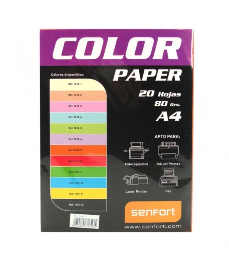 COLOR PAPER * PAQ / 20H A4 80gr NARANJA R: 1313-7