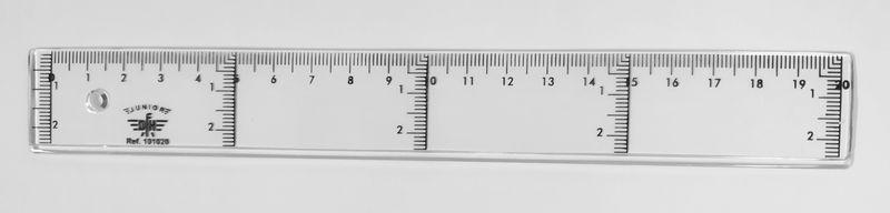 C / 20 REGLA JUNIOR CRISTAL 20CM C / FUNDA R: 101020