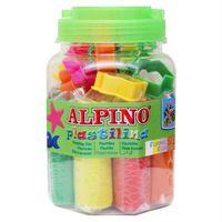 KIT PLASTILINA ALPINO BOTE 8 COLORES 80grs + HERRAMIENTAS R: DP000054